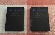 Lot 2 Cartes Mémoire SONY PS2 Magic Gate 8MB Noires Officielles Memory Card
