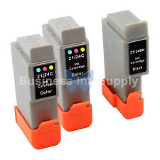 3 PACK BCI-24 BCI24 NEW Ink for Canon Printer i450 i455 i470D i475D / BCI-24