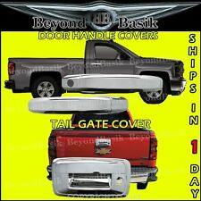 2014-2017 Chevy Silverado 1500 2DR Chrome Door Handle Covers + Tailgate Cover