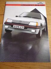 PEUGEOT 205 GTI BROCHURE 1985 jm