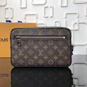 LOUIS VUITTON Monogram Macassar Pochette Kasai clutch bag