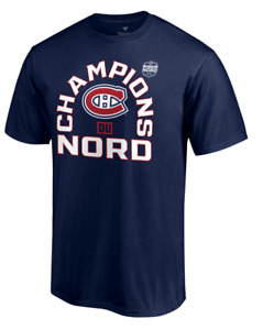 Men's Montreal Canadiens Navy 2021 Stanley Cup Champions Du Nord T-Shirt French