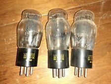 3 General Electric Tested 45 Vacuum Tubes
