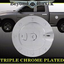 2009-2018 DODGE RAM 1500 Triple ABS Chrome Fuel Gas Door Cover Trim Overlay Cap