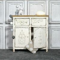 Handicraft Wood Antique Side Board, Distress White for Home Office Furniture