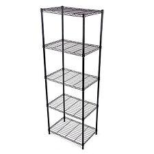 Metall Regal Standregal Küchenregal Ordnungshelfer 5 Böden B 54 x H155 x T 35 cm