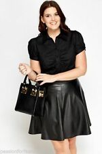 Women's Business Collared Hip Length Plus Size Tops & Shirts