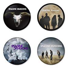 Imagine Dragons, B - 4 chapas, pin, badge, button