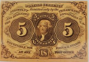 5 Cents First Issue Fractional Currency Fr#1230 PMG Certified Graded UNC 63
