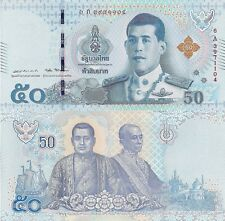 THAILAND 50 Baht Banknote World Paper Money UNC Currency p136a 2018 New King
