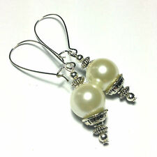 Hook Glass Silver Plated Costume Earrings without Stone