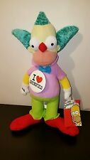 "The Simpsons TV Plush Krusty The Clown Doll Toy 15""  2015 20th Century Fox"