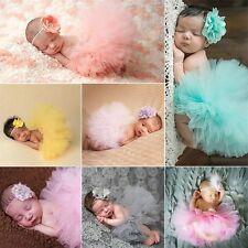 Cute Bebé Recién Nacido Bebe Niña Falda Tutú Diadema Accesorio Para Fotos