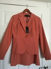 New with Tags Women's Allen by ABS Coral Orange/Pink Linens Suite Size 4