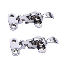 2PCS Boat Stainless Steel Locker Hatch Anti-Rattle Latch Fastener Clamp 4-3/8""