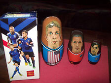 San Jose Ca Quakes 1974 Soccer Team - Wooden Nesting Dolls Set Of Three