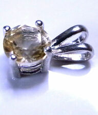 Natural earth-mined citrine in a solid sterling silver pendant ...5.5-6 mm stone