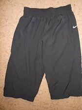 Women's NIKE DRI-FIT athletic capri lined pants sz M NEW