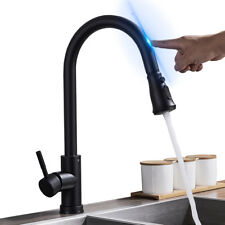 Deck Mounted Pull Out Kitchen Sink Faucet Touchless Single Hole Kitchen Mixer