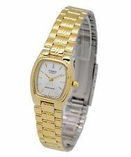 LTP-1169N-7A Casio Beige dial in Gold case Stainless Steel Watch Ladies Date