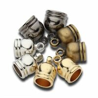 50pcs CCB End Caps Clasps Fit 6/7/8/9/12mm Leather Cord for DIY Jewelry Findings