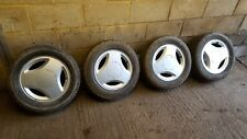 """SAAB CLASSIC 900 15"""" 3 SPOKE ALLOY WHEELS AND TYRES 16S TURBO CARLSSON"""