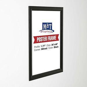 """Snap Frame, 36X48 Poster Size, 1.77"""" Black Color, Mitred Corner Front Loading"""