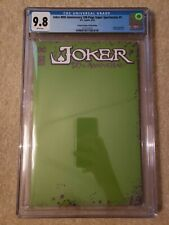 Joker 80th Anniversary Scorpion green sketch variant CGC 9.8, freshly graded DC