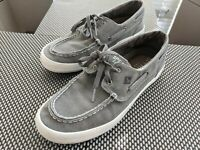 MENS SPERRY TOP SIDER WAHOO 2-EYE BOAT SHOES GRAY STS14361 SIZE 8.5