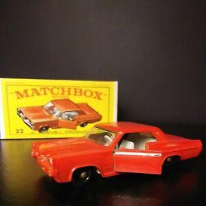 Matchbox Lesney #22 Red Pontiac Coupe In Original Box VNM