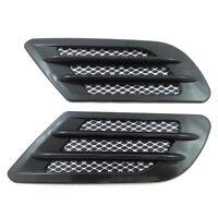 Black Car Bonnet Air Flow Intake Side Fender Vent Moulding Trim Decals Stick On.