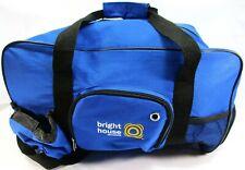Bright House Duffle Bag Adjustable Shoulder Strap Blue Nylon Side Pockets