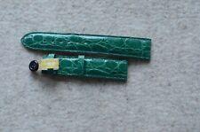 Uhrenarmband Leder grün  18mm  Kaufmann Krokodil   Handmade  Neu