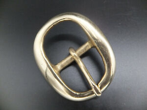 """Solid Brass Swage - Bridle Belt Buckle [ 3/8"""" - 2"""" ] 10 mm - 50 mm - 11 Sizes"""