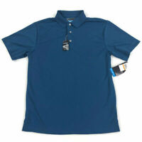 PGA Tour Mens Golf Polo Shirt Air Flux Teal Blue Variety Size