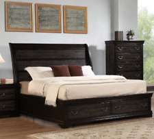 Queen Size Bed (Rustic farmhouse sleigh)