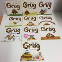Grug Books by Ted Prior x 10 - Grug At The Beach - Rainbow - Cook - Fly - Music