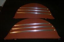 1941-48 Chevy Fleetside fender skirts, with stainless.