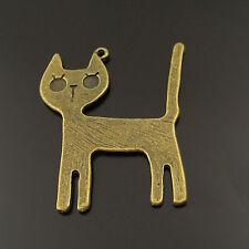 10PCS Antique Bronze Cute Cat Pendant Charm 20401
