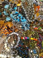 Huge Vintage To Now 2lbs wearable Junk Drawer Estate Jewelry Lot, see desc/pics