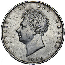More details for 1825 halfcrown - george iv british silver coin - nice