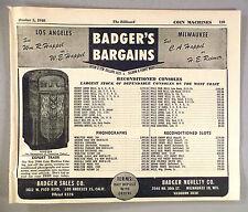 Rock-Ola Juke Box, Slot Machines PRINT AD - 1946 ~ Badger Novelty Sales Co.