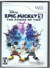 DISNEY EPIC MICKEY 2 THE POWER OF TWO NINTENDO WII GAME BRAND NEW