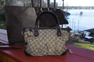 Gucci monogram handbag brown leather purchased in Las Vegas