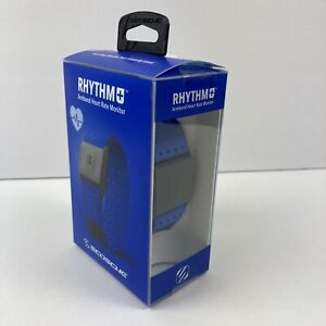 Scosche RHYTHM+ 1.9 Heart Rate Monitor Armband - Blue - New OPEN BOX
