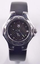 TAG Heuer Kirium Ti5 WL1180 Titanium Quartz Rubber Strap 38mm Watch (#3509)
