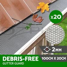 20/30/40/50/60 pcs Gutter Guard Guards Aluminium Leaf Mesh 100x20cm Brush DIY