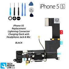 NEW Replacement iPhone 5S Charging Lightning Dock Port Headphone Jack - BLACK