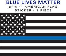"""Support Police BLUE LIVES MATTER 1 piece 4""""x6"""" bumper sticker decal 6"""" USA VINYL"""