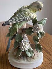 Andrea By Sadek Porcelain Parakeet Figurine